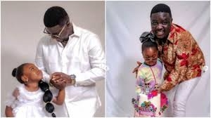 Seyi Law marks daughter's 4th birthday alone as wife goes MIA (photos)